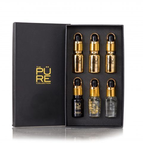 Gift Set with Prickly Pear Seed Oil, Argan Oil, Beard Oil with oud,Argan Oil with Gold Flakes, Intense Serum and Revitalising Serum